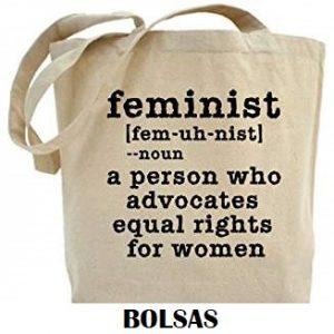 Bolsas de tela feministas.